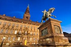 Christiansborg em Copenhaga, Dinamarca Fotos de Stock