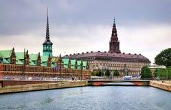 Christiansborg, Kopenhagen, Denemarken royalty-vrije stock foto's
