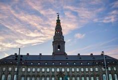 Christiansborg-Palast in Kopenhagen, Dänemark lizenzfreie stockbilder