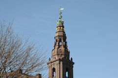 CHRISTIANSBORG parlamentu DUŃSKI budynek fotografia royalty free