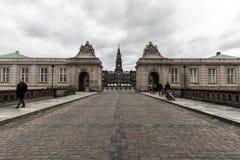 Christiansborg slott av copenahagenen royaltyfri bild