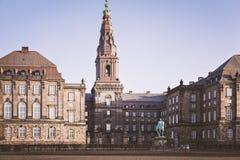 Christiansborgpaleis Kopenhagen Royalty-vrije Stock Afbeelding