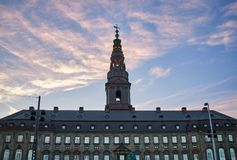 Christiansborgpaleis in Kopenhagen, Denemarken royalty-vrije stock afbeeldingen
