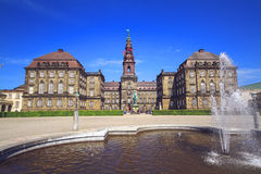 Christiansborgpaleis in Kopenhagen, Denemarken royalty-vrije stock foto's