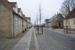 Christiansfeld, μια τακτοποίηση εκκλησιών Moravian στοκ φωτογραφία