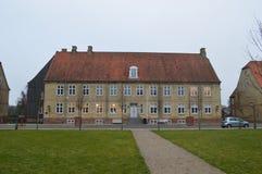 Christiansfeld, μια τακτοποίηση εκκλησιών Moravian στοκ εικόνες
