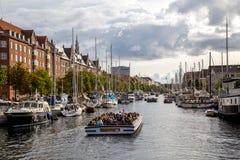 Christianshavn在哥本哈根,丹麦 库存图片