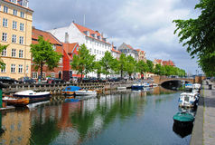 Christianshavn in Copenhagen Royalty Free Stock Photography