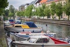 Christianshavn sąsiedztwo w Kopenhaga, Dani fotografia royalty free
