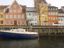 Christianshavns Kanal in Copenhagen, Denmark Stock Images