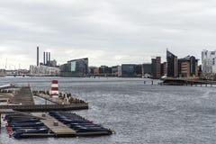 Christianshavns Kanal van copenahagen Stock Foto's