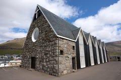 Christianskirkjan de Klaksvik, Faroe Island Fotos de Stock Royalty Free