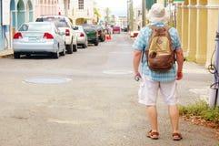 Christiansted мы улица портового района Виргинских островов стоковая фотография rf