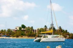 Christiansted  catamaran tour around sr croix island Stock Photo