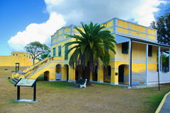 Christiansted House of Commons. Christiansted National Historic Site from colonial development of the Virgin Islands. It features 18th and 19th century Royalty Free Stock Photos