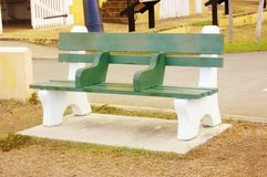 Christiansted usvi  bench with separate seats Royalty Free Stock Photo