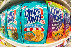 Christie Chips Ahoy Cookies in Store Shelf Stock Photos