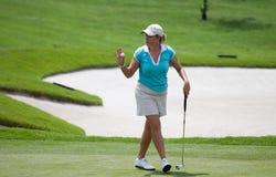 Christie Kerr gestikuliert nach einem gesetzten LPGA Malaysia Stockfotos