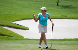 Christie Kerr gestures after a put LPGA Malaysia Stock Photos