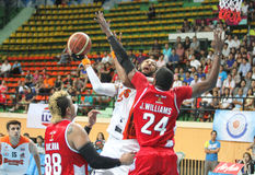 Christien Charles take to the shot in an ASEAN Basketball League  Stock Photo