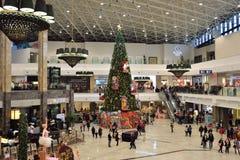 Christmas tree inside shopping center Stock Photo