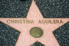 Christina Aguilera. 's star at the Hollywood Walk of Fame Stock Image