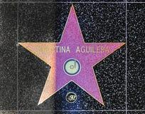 Christina Aguilera gwiazda na Hollywood spacerze sława Zdjęcie Stock