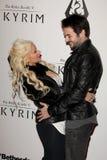 Christina Aguilera, Matthew Rutler Royalty Free Stock Photo