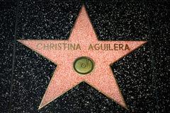 Christina Aguilera Star auf dem Hollywood-Weg des Ruhmes stockfotos
