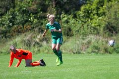 Christina Dring at the Women`s National League game: Cork City FC vs Galway WFC. May 12th, 2019, Cork, Ireland - Christina Dring at the Women`s National League royalty free stock photos