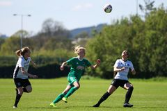 Christina Dring at the Women`s National League game: Cork City FC vs Galway WFC. May 12th, 2019, Cork, Ireland - Christina Dring at the Women`s National League stock photography