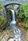 Christina Falls famoso nel parco nazionale del monte Rainier immagine stock