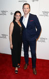Christina Geist, Willie Geist. Willie Geist R and wife Christina attends the `Unbreakable Kimmy Schmidt` screening at BMCC at PAC during the 2017 TriBeCa Film Royalty Free Stock Images