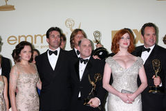Christina Hendricks, Elisabeth Moss, Jon Hamm, Matthew Weiner Stock Photo