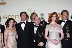 Christina Hendricks, muschio di Elisabeth, Jon Hamm, Matthew Weiner Fotografia Stock