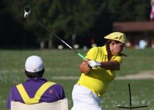 Christina Kim aux maîtres 2012 d'Evian de golf photographie stock