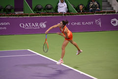Christina McHale. DOHA-QATAR: FEBRUARY 17: Tennis Player Christina McHale at Qatar Total Open on February 17, 2012 in Doha, Qatar. The event was held from stock photos
