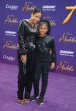 Christina Milian and Violet Madison Nash. Christina Milian at the Los Angeles premiere of `Aladdin` held at the El Capitan Theatre in Hollywood, USA on May 21 royalty free stock photos