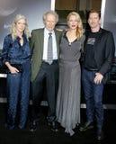 Christina Sandera, Clint Eastwood, Alison Eastwood e Stacy Poitras fotografia stock libera da diritti