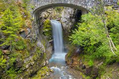 Christine Falls in de staat van MT Rainier National Park WA royalty-vrije stock afbeelding