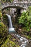 Christine Falls del monte Rainier fotografia stock libera da diritti