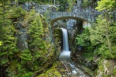 Christine Falls em Mt Rainier National Park fotos de stock royalty free
