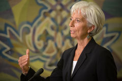 Christine Lagarde Royalty Free Stock Photo
