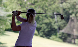 Christine Thomas at the Fourqueux golf Ladies Open. FOURQUEUX  GOLF COURSE, FRANCE –JUNE  07 ,  2013 Royalty Free Stock Photo