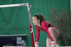 Christine Tol on bars Stock Images