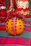 Christingle Table Decoration Stock Images