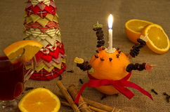 Christingle Table Display Stock Images