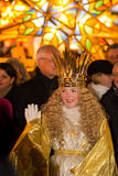Christkind-Lantern Procession-Christmas-Nuremberg-Germany royalty free stock photos