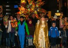 Christkind-Lantern Procession-Christmas-Nuremberg-Germany Royalty Free Stock Images