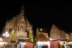 Christkindlesmarkt (de markt van Kerstmis) in Nuremberg royalty-vrije stock afbeelding
